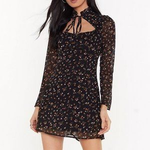 NWT Nasty Gal Floral Dress With Collar